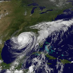 Hurricane Isaac spins into the southern Louisiana coast sending floodwaters surging and unleashing fierce winds (AP/NOAA)