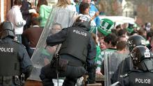 Disturbances in Belfast's Holy Land area on St Patrick's Day 2009.