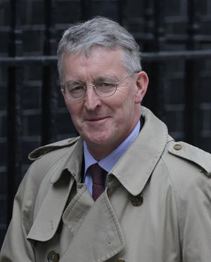 Hilary Benn, the Environment Secretary, leaves Downing Street following a cabinet meeting on May 10, 2010 in London, England