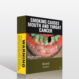 An Australian government mock-up of how the new cigarette packs may look (AP)