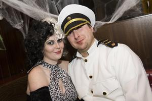 Ollies Halloween Party pictured Joanne Kemp and Andrew Ogden