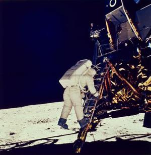 <b>The cameraman watched them leave </b><br/>  How come there's footage of the astronauts leaving the moon? Who filmed that?   It was a camera left on the surface of the moon and controlled from earth.