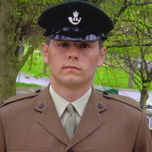 Rifleman Sheldon Steel was hailed as a future leader by his colleagues