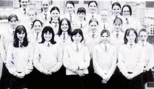 Can you pick out Girls Aloud singer Nadine Coyle, as a pupil at Thornhill College?