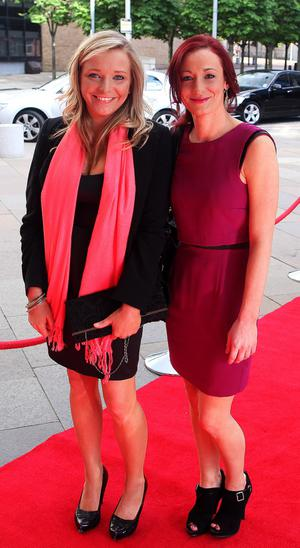 10.06.12. PICTURE BY DAVID FITZGERALDThe opening of the Belfast Film Festival at the Waterfront Hall, Belfast last night. Nuala McErlane and Sarah Robinson