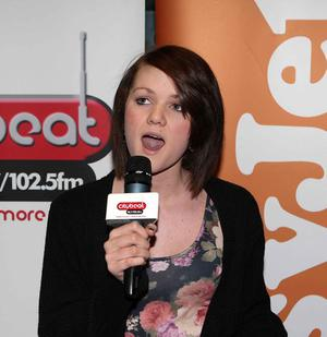 Courtney Stuart from Bangor on stage at the City Beat Young Star search auditions held in the Movir House Yorkgate City Side. Picture by   Bill Smyth