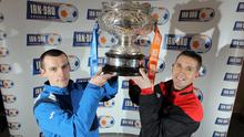 Coleraine manager Oran Kearney and his counterpart, Crusaders chief Stephen Baxter, are hoping to get their hands on the Irn-Bru Cup tomorrow
