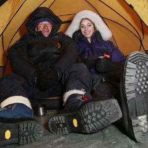 Amelia Hempleman-Adams and her father, adventurer and explorer David Hempleman-Adams, have reached the South Pole