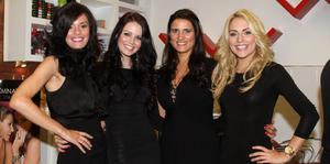 Zara Shaw, Melissa Patten, Amanda Mount Stevens and Jenny Curran at the Bellaire launch