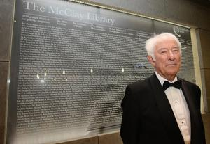 Nobel laureate Seamus Heaney opens the new £50m McClay Library at Queen's University