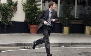 Computer hacker, Gary McKinnon, arrives at Bow Street Magistrates  in London.