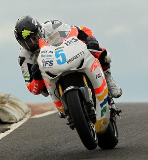 Bruce Anstey Padgett Honda  at Blacks Hill during 17th May 2011 Superbike practice for the North West 200.