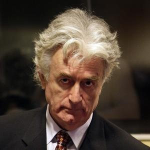 Radovan Karadzic is charged with genocide at Srebrenica, Bosnia, among other war crimes during the 1992-95 Bosnian War (AP)