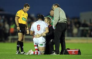 Magners League 25/9/2010Connacht vs UlsterUlster's Stephen Ferris treated for an injury shortly before being replacedMdandatory Credit ©INPHO/James Crombie  *** Local Caption ***