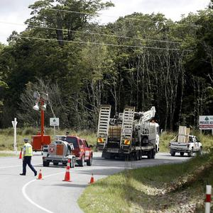 The drilling rig arrives near the Pike River coal mine in New Zealand where 29 miners are trapped underground (AP)