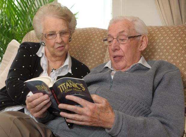 Lord Bannside Ian Paisley relaxes with his wife Eileen at their home in Belfast following his recent illness.Photo by Aaron McCracken/Harrisons