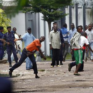 Tensions are rising in DR Congo as people await the outcome of last week's disputed election (AP)