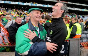 GAA Football All Ireland Senior Championship Final, Croke Park, Dublin 23/9/2012Donegal vs MayoDonegal's winning manager from 1992 Brian McEniff and Donegal manager Jim McGuinnessMandatory Credit ©INPHO/James Crombie