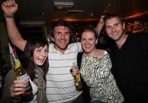 Having a ball in Enniskillen are from left, Amy Maddocks, Glenn Picken, Catherine Hartley and Terry Logan.