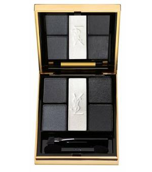 <b>9. Palette Noir Terriblement</b><br/> £39, Yves Saint Laurent, available nationwide The spirit of YSL's Le Smoking is distilled into the five shades in this gold palette – which comes with its own pin-tucked cummerbund.