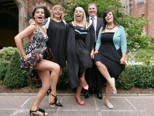 Queen's University summer Graduation.  July 2010.   Blathnaid Carlin, from Lurgan graduated in Medicine at Queen's today supported by mum Sinead, sisters Meabh and Aoife and dad Paul.
