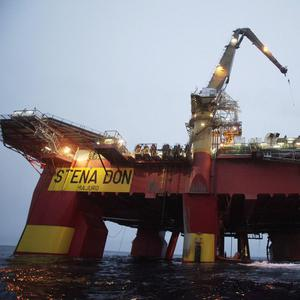 The Cairn Energy oil rig off the coast of Greenland