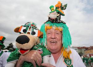Republic of Ireland fan Malachy Gormley in Gdansk, Poland before the UEFA Euro 2012, Group C match against Spain