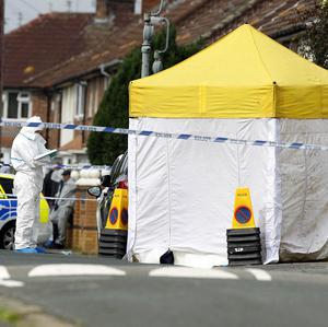 Police at the scene of a fatal shooting in Norris Green, Liverpool