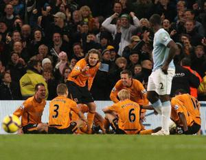"""<b>Jimmy Bullard</b> Hull City joker Jimmy Bullard is a shoe-in for goal celebration of the season. He celebrated his equaliser against Manchester City by sitting the other players down in a circle and giving them a good talking to. For those who have been on another planet, the celebration was a re-enactment of last season's fixture at Eastlands when a furious Phil Brown gave his team-talk on the pitch. """"It was a fantastic celebration,"""" said Brown. """"Great comedy is about timing. You could not have had a celebration like that, after a goal, unless it was at Eastlands and was in the goal in front of the Hull fans."""""""