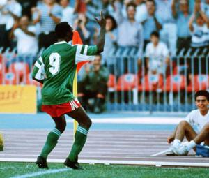 <b>Roger Milla</b> Cameroonian Roger Milla was one of Africa's first international football stars, but it is for his celebration that he is best remembered. Coaxed out of international retirement by the President of Cameroon, Milla took his place in the side for the 1990 World Cup. He emerged as one of the tournament's star's scoring four goals - each one celebrated with a dance around the corner post. The celebration continues to be mimicked to this day.