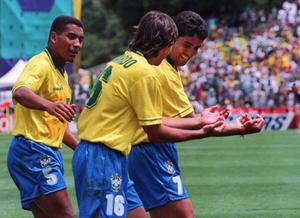 <b>Bebeto</b> Bebeto's famous 'rocking baby' celebration at the 1994 World Cup has been imitated by footballer's the world over. During Brazil's ultimately successful tournament in the US, Bebeto performed the celebration to mark the arrival of his third child, who was delivered just a few days before.