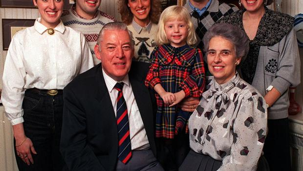 Ian Paisley pictured with wife Eileen and family in 1989