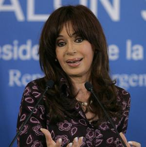 President Cristina Fernandez said Argentina's political and media opposition tried to remove her from office (AP)