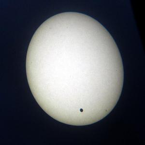 The transit of Venus projected on card