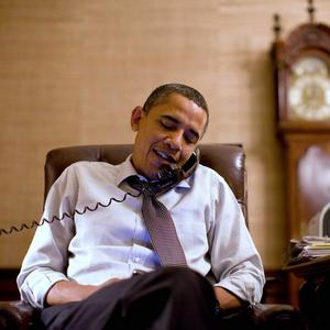 Barack Obama makes an election night phone call to Rep John Boehner, whois expected be the next House Speaker (AP)