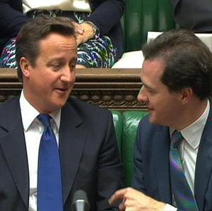 David Cameron with Chancellor George Osborne. Many voters believe the Prime Minister's inner circle is made up of his close friends