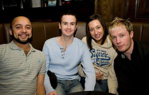 The Botanic Inn Belfast, pictured Paul Anand, Seamus McIlmurray, Claire Gatt and J P Doyle