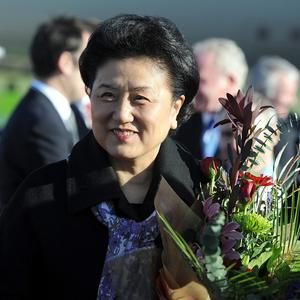 Liu Yandong arrives at Belfast International Airport for her visit to Northern Ireland