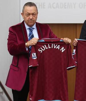 <br /><b>David Sullivan</b><br /> The West Ham United owner was presumably making an attempt to sport the colours of his new team, but ended up looking more like a dodgy nightclub owner