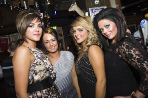 Christmas Social Pics -Taphouse pictured Clare Hughes, Ciara Hanley, Melissa McDonnell and Cat Hughes