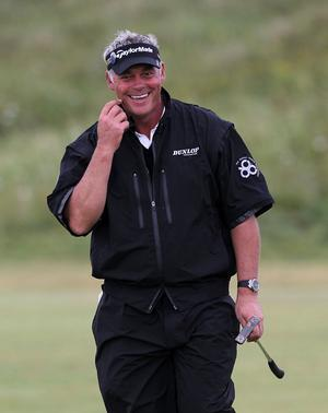 Northern Ireland's Darren Clarke during round three of the 2011 Open Championship at Royal St George's, Sandwich