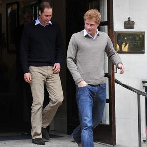 The Duke of Cambridge and Prince Harry visited the Duke of Edinburgh, who is recovering from a bladder infection