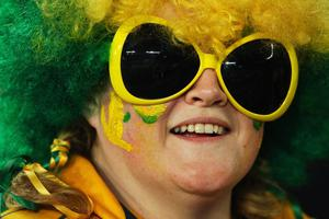 AUCKLAND, NEW ZEALAND - SEPTEMBER 17: A Wallabies fan soaks up the atmosphere during the IRB 2011 Rugby World Cup Pool C match between Australia and Ireland at Eden Park on September 17, 2011 in Auckland, New Zealand.  (Photo by Cameron Spencer/Getty Images)