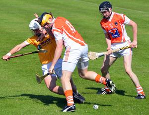 Antrim's 2-20 to 2-12 victory over Armagh in the Ulster SHC final at Casement Park. Photo by Gary Fennelly