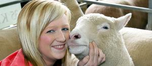 Elaine Hunter, Ballymoney, with her Polled Dorset sheep at Balmoral Show