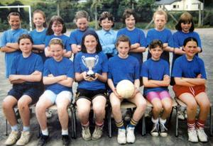 Michaela Harte Far Right front in St.Malachy's Primary School where she attended and later done her teaching placement..