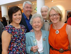 Family Matters: Wendy with daughter Kerry, husband Frank, mum Irene and her late dad Cecil
