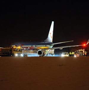 Nearly 200 passengers were evacuated from the 737 plane