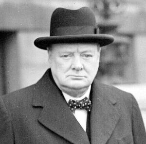 A 65-year-old man has been arrested on suspicion of faking the signature of Winston Churchill
