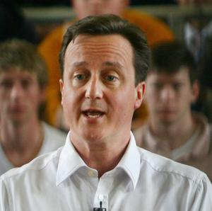 David Cameron answers questions at Varndean College in Brighton, East Sussex